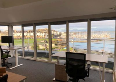 M-Space Malahide views and seascape. Work locally in a small coworking hub.
