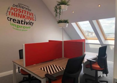 M-Space private office for 4 people. Bright and airy. Local coworking hub Malahide, Fingal area.