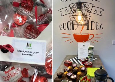 Happy Valentines Day, building a community in local coworking hub. Connect working. M-Space Malahide.