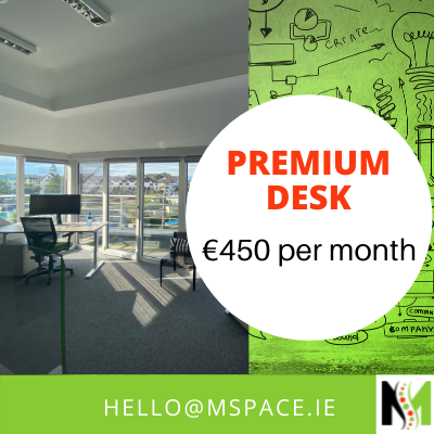 Premium dedicated desk with seaviews.